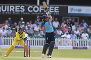 Natalie Sciver of England (39) hits four runs during the Royal London Women's One Day International match between England Women Cricket and Australia at the Fischer County Ground, Grace Road, Leicester, United Kingdom on 4 July 2019.