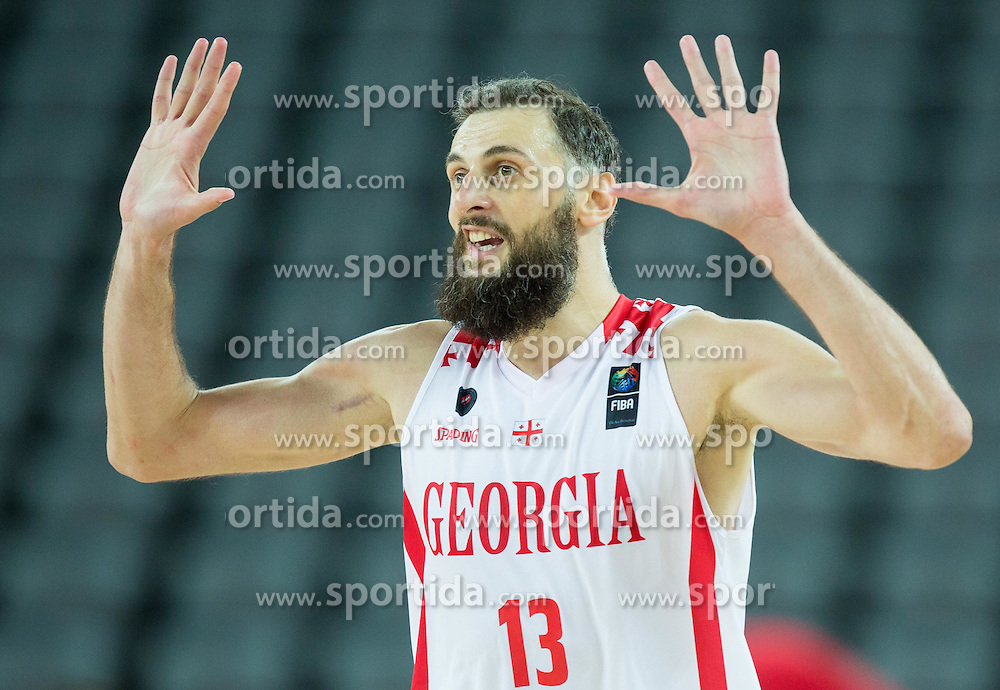 Viktor Sanikidze of Georgia during basketball match between Georgia and Netherlands at Day 1 in Group C of FIBA Europe Eurobasket 2015, on September 5, 2015, in Arena Zagreb, Croatia. Photo by Vid Ponikvar / Sportida