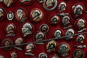 Mao Zedong pins for sale at a Dali antique store for 25-35 RMB.