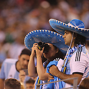 EAST RUTHERFORD, NEW JERSEY - JUNE 26:  Argentinian fans during the Argentina Vs Chile Final match of the Copa America Centenario USA 2016 Tournament at MetLife Stadium on June 26, 2016 in East Rutherford, New Jersey. (Photo by Tim Clayton/Corbis via Getty Images)