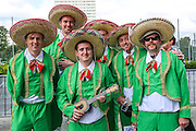 England cricket fans before the 3rd Investec Ashes Test match between England and Australia at Edgbaston, Birmingham, United Kingdom on 30 July 2015. Photo by Shane Healey.