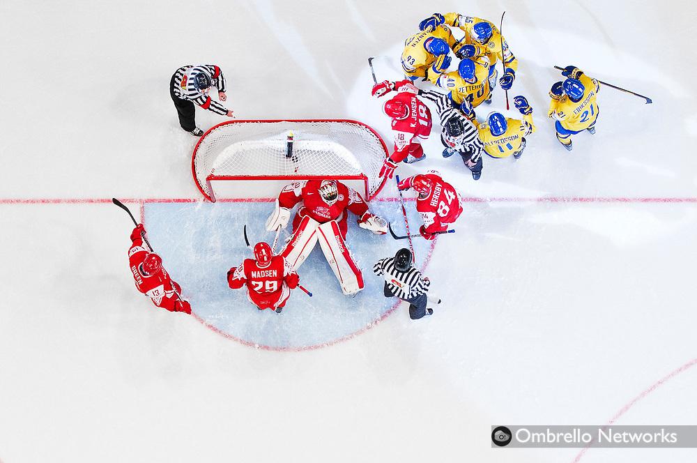 STOCKHOLM  2012-05-07<br /> VM ISHOCKEY DANMARK VS SVERIGE<br /> JUBEL VID 0-2