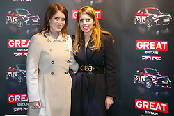 HRH Princess Beatrice of York and HRH Princess Eugenie of York attend the fashion fair Bread & Butter to support the British textile industry during their visit to Berlin, January 17, 2013. Photo by Imago / i-Images...UK ONLY