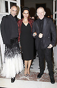 12.JULY.2011. VERSAILLES<br /> <br /> TANEL, FARIDA KHELFA AND JEAN-PAUL GAULTIER AT CLOSING PARTY FOR THE HAUTE-COUTURE COLLECTIONS AND OPENING OF THE EXHIBITION &quot;LE XVIII EME SIECLE AU GOUT DU JOUR, COUTURIERS ET CREATEURS DE MODE AU GRAND TRIANON&quot; AT VERSAILLES CASTLE, FRANCE.<br /> <br /> BYLINE: EDBIMAGEARCHIVE.COM<br /> <br /> *THIS IMAGE IS STRICTLY FOR UK NEWSPAPERS AND MAGAZINES ONLY*<br /> *FOR WORLD WIDE SALES AND WEB USE PLEASE CONTACT EDBIMAGEARCHIVE - 0208 954 5968*