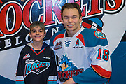 KELOWNA, CANADA - MARCH 14:  Home Hardware Stick Boy with Carsen Twarynski #18 of the Kelowna Rockets at the Kelowna Rockets game on March 14, 2018 at Prospera Place in Kelowna, British Columbia, Canada.  (Photo By Cindy Rogers/Nyasa Photography,  *** Local Caption ***
