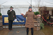 CHARLIE BROOKS; ALICE PLUNKET OPENING THE COURSE, Heythrop Point to Point. At a  new course at Cocklebarrow near Aldsworth. 11 January 2014