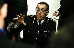 Stansted Airport .The end of the hijack ..Police press conference, Chief Constable of Essex David Stevens, February 10, 2000. Photo by Andrew Parsons / i-images..