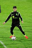 Spanish National Team's  training at Ciudad del Futbol stadium in Las Rozas, Madrid, Spain. In the pic: Alvaro Morata. March 25, 2015. (ALTERPHOTOS/Luis Fernandez)