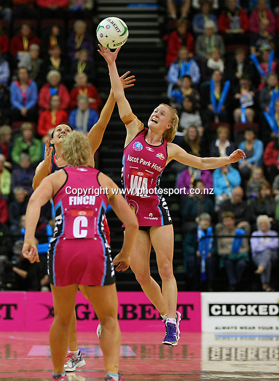Steels Shannon Francois in the ANZ championship netball match, Steel v Vixens, ILT Stadium Southland, Invercargill, New Zealand, Saturday, May 31, 2014. Photo: Dianne Manson / www.photosport.co.nz