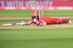 Lancashire Lightning's Dane Vilas is run out by Worcestershire Rapid's Ed Barnard (not pictured) during the Vitality T20 Blast Semi Final match on Finals Day at Edgbaston, Birmingham.