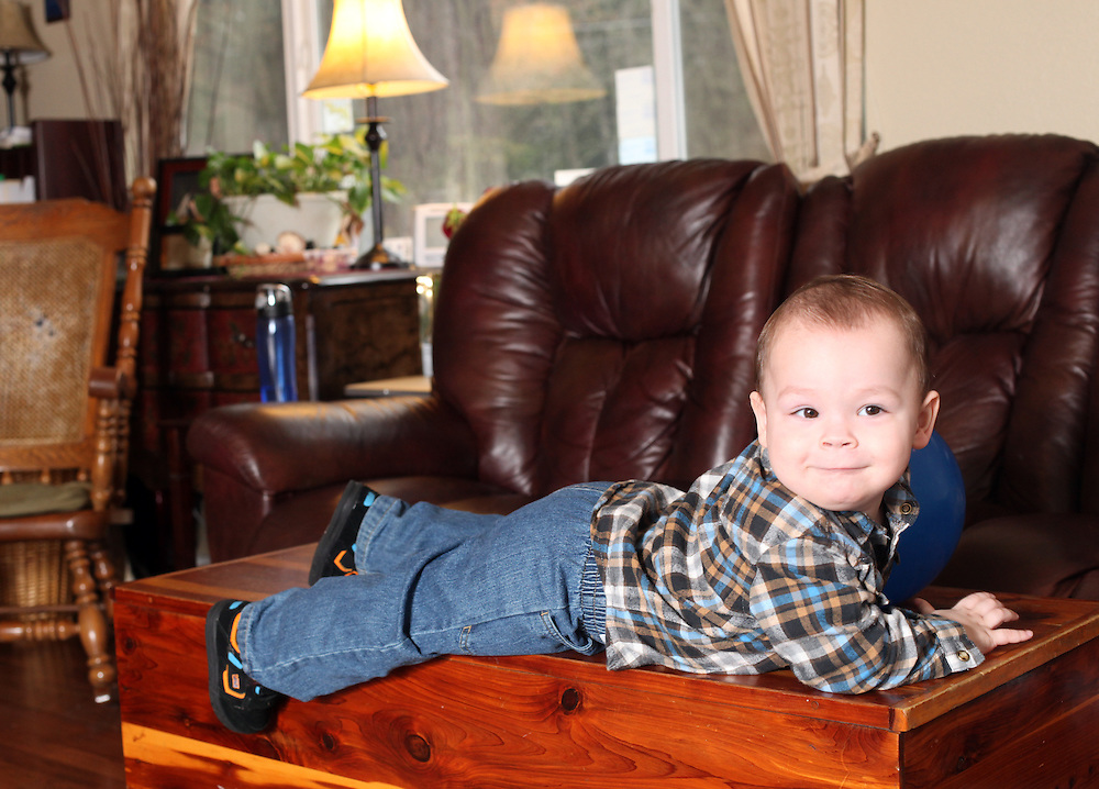 Brandon at his foster parents' home in Portland on Saturday, March 10, 2012.