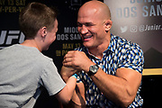 DALLAS, TX - MAY 10:  Junior dos Santos speaks to the media during the UFC 211 Ultimate Media Day at the House of Blues Dallas on May 10, 2017 in Dallas, Texas. (Photo by Cooper Neill/Zuffa LLC/Zuffa LLC via Getty Images) *** Local Caption *** Junior dos Santos