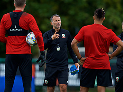 CARDIFF, WALES - Tuesday, September 4, 2018: Wales' manager Ryan Giggs speaks to his players during a training session at the Vale Resort ahead of the UEFA Nations League Group Stage League B Group 4 match between Wales and Republic of Ireland. (Pic by David Rawcliffe/Propaganda)