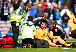 Thomas Heaton of Burnley receives treatment for an injury before being subbed off - Mandatory by-line: Robbie Stephenson/JMP - 10/09/2017 - FOOTBALL - Turf Moor - Burnley, England - Burnley v Crystal Palace - Premier League