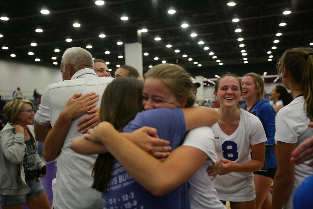GJNC - July 2018 - Detroit, MI - 16 Open finals - MAVS (white) - Coast (black) - Photo by Wally Nell/Volleyball USA