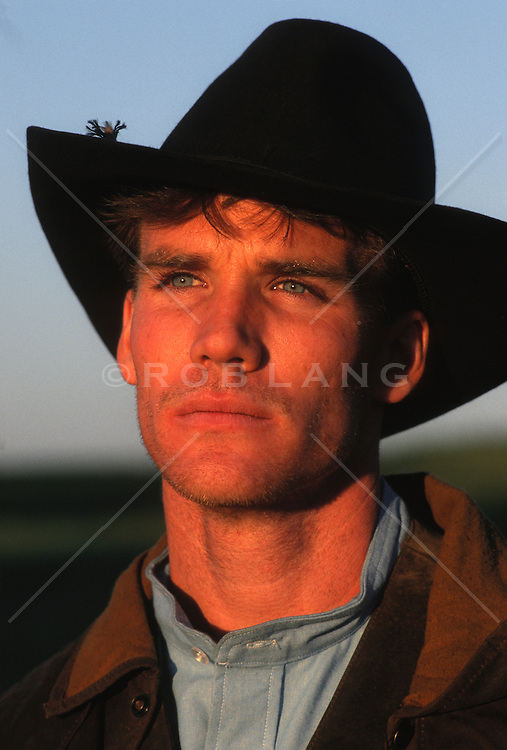 Handsome cowboy Watching a sunset