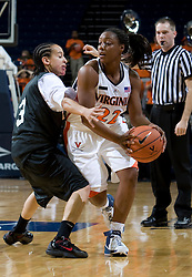 Virginia Cavaliers G Monica Wright (22)..The Virginia Cavaliers women's basketball team faced Team Concept in an exhibition basketball game at the John Paul Jones Arena in Charlottesville, VA on November 5, 2007.