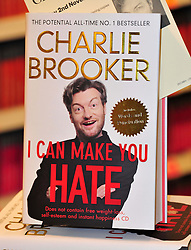 Charlie Brooker book signing.  Columnist and TV presenter, known for his misanthropic style of writing, signs copies of his latest book 'I Can Make You Hate', a collection of his best known rants.  Waterstone's, The Plaza, 120 Oxford Street, London, United Kingdom, November 2, 2012. Photo by Nils Jorgensen / i-Images.