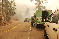 July 30, 2018 - California, U.S. - The Ferguson Fire now in its 20th day, started July 13 on the Sierra National Forest. The fire is now 62,883 acres with 39 percent containment and 3,558 personnel that are currently engaged on the fire which include 203 engines, 43 water tenders, 14 helicopters, 95 crews, 5 masticators and 62 dozers. There has been 2 fatalities and 9 injuries to date. 1 structure has been destroyed. (Credit Image: © Rubicon/Cal Fire via ZUMA Wire/ZUMAPRESS.com) (Credit Image: © Rubicon/Cal Fire via ZUMA Wire/ZUMAPRESS.com)