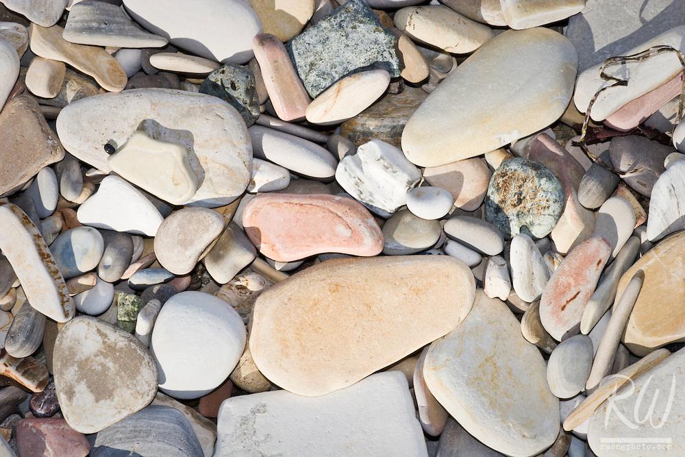 Colorful Smooth Rocks Along Spooners Cove Shoreline, Montana de Oro State Park, California
