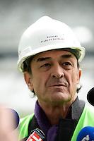 Jean Louis TRIAUD - 23.03.2015 - Visite du Stade de Bordeaux -<br /> Photo : Caroline Blumberg / Icon Sport *** Local Caption ***