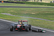 Calvin Ming from Guyana loses his front wing in Race 2, Round 3 of the 2018 Castrol Toyota Racing Series at Hampton Downs, Sunday January 28, 2018.<br /> Copyright photo: Bruce Jenkins / www.photosport.nz