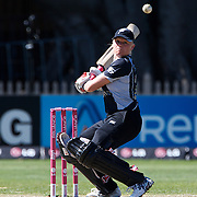 Kate Pulford batting during the match between New Zealand and India in the Super 6 stage of the ICC Women's World Cup Cricket tournament at North Sydney  Oval, Sydney, Australia on March 17, 2009. New Zealand beat India by 5 wickets. Photo Tim Clayton