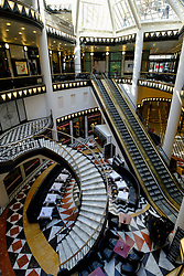 Interior of upmarket Quartier 206 shopping mall in Berlin