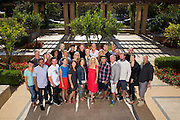 Nike, Inc. employees pose for a group photo at Stanford University in Stanford, California, on August 27, 2014. (Stan Olszewski/SOSKIphoto)