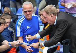 Birmingham City manager Harry Redknapp signs autographs before kick-off - Mandatory by-line: Ryan Crockett/JMP - 12/08/2017 - FOOTBALL - St Andrew's Stadium - Birmingham, England - Birmingham City v Bristol City - Sky Bet Championship