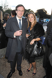 DENNIS O'CONNOR and ZOE LEACH at a reception at the gold medal winning De Beers garden in aid of the KT Wong Charitable Trust at the 2nd day of the 2008 Chelsea Flower show on 20th May 2008.<br /><br />NON EXCLUSIVE - WORLD RIGHTS