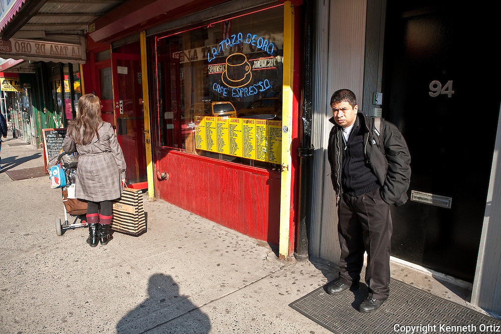 Photo taken in front of A Cup of Gold on 8th Avenue near 14th Street.