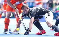 UTRECHT - De Duitser Phillipp Zeller, zaterdag tijdens de  hockey interland tussen de mannen van Nederland en Duitsland (4-2). COPYRIGHT KOEN SUYK