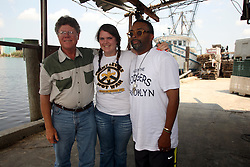 01 June 2010. New Orleans, Louisiana, USA.  <br /> Dr Ivor Van Herden and his daughter on set in Chalmette for Spike Lee's latest movie, 'If God is Willing and da Creek Don't Rise.'<br /> Photo ©; Charlie Varley/varleypix.com.