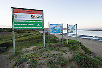 Environmental signage on the Sundays River Estuary, Sundays River Estuary, Algoa Bay, Eastern Cape, South Africa