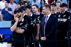 Kane Williamson of New Zealand cuts a dejected figure after losing in the Cricket World Cup Final - Mandatory by-line: Robbie Stephenson/JMP - 14/07/2019 - CRICKET - Lords - London, England - England v New Zealand - ICC Cricket World Cup 2019 - Final