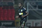 Bevis Mugabi (5) of Yeovil Town during the EFL Sky Bet League 2 match between Swindon Town and Yeovil Town at the County Ground, Swindon, England on 10 April 2018. Picture by Graham Hunt.
