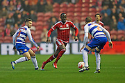 Middlesbrough midfielder Albert Adomah (27)  during the Sky Bet Championship match between Middlesbrough and Reading at the Riverside Stadium, Middlesbrough, England on 12 April 2016. Photo by Simon Davies.