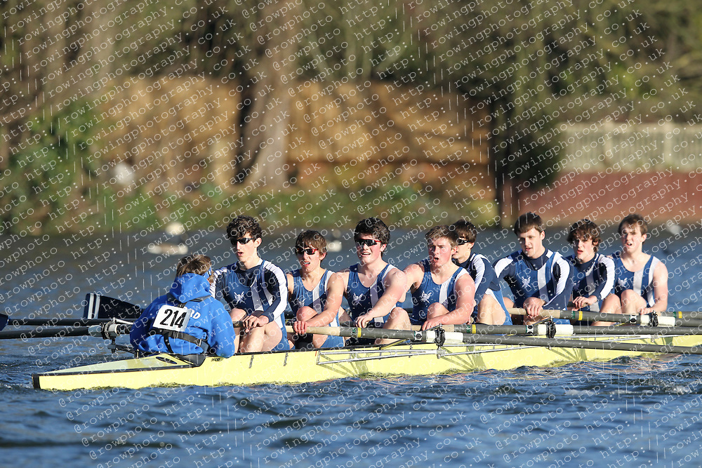2012.02.25 Reading University Head 2012. The River Thames. Division 2. Bedford School Boat Club A Nov 8+