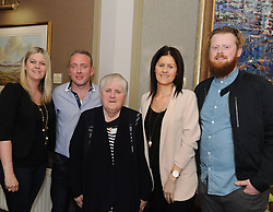 Eileen Geraghty, Joey O&rsquo;Malley, Marie, Deirdre and Micheal Geraghty at the Westport Lions club Clew Bay People of the Year Awards.<br /> Pic Conor McKeown