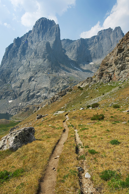Trail to Jackass Pass and Cirque of the Towers, Bridger Wilderness,  Wind River range Wyoming