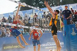 20190628 DEU: World Champs Hamburg 2019: Hamburg<br /> L-R Dries Koekelkoren (BEL,1), Tom van Walle (BEL,2), Ondrej Perusic (CZE,1), David Schweizer (CZE,2)<br /> ©2019-FotoHoogendoorn.nl / Pim Waslander