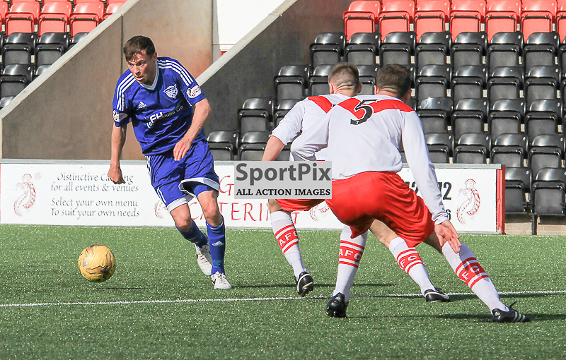 Airdrieonians V Peterhead  Scottish League One 29 August 2015;  Peterhead's Nicky Riley during the Airdrieonians V Peterhead Ladbrokes Scottish League One match played at Excelsior Stadium, Airdrie.