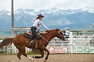Barrel Racing, rodeo, Wilsall, Montana.