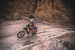Sam Sunderland (GBR) of Red Bull KTM Factory Team races during stage 5 of Rally Dakar 2019 fromMoquegua to Arequipa, Peru on January 11, 2019. // Flavien Duhamel/Red Bull Content Pool // AP-1Y3N7GJU92111 // Usage for editorial use only // Please go to www.redbullcontentpool.com for further information. //