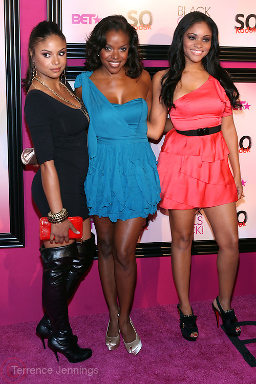16 October 2010- Bronx, New York- l to r: Joyful Drake, Nadine Ellis, and Erica Hubbard, cast of BET's ' Let Stay Together'  at the The Black Girls Rock! Awards Show held at The Paradise Theater on October 16, 2010 in the Bronx, New York. ..Since 2006, BLACK GIRLS ROCK! has been dedicated to the healthy development of young women and girls. BLACK GIRLS ROCK! seeks to build the self-esteem and self-worth of young women of color by changing their outlook on life, broadening their horizons, and helping them to empower themselves. For the past four years, we have enjoyed the opportunity to enrich the lives of girls aged 12 to 17 years old through mentorship, arts education, cultural exploration and public service. At BLACK GIRLS ROCK!, young women are offered access to enrichment programs and opportunities that place special emphasis on personal development through the arts and cooperative learning. Photo Credit: Terrence Jennings..