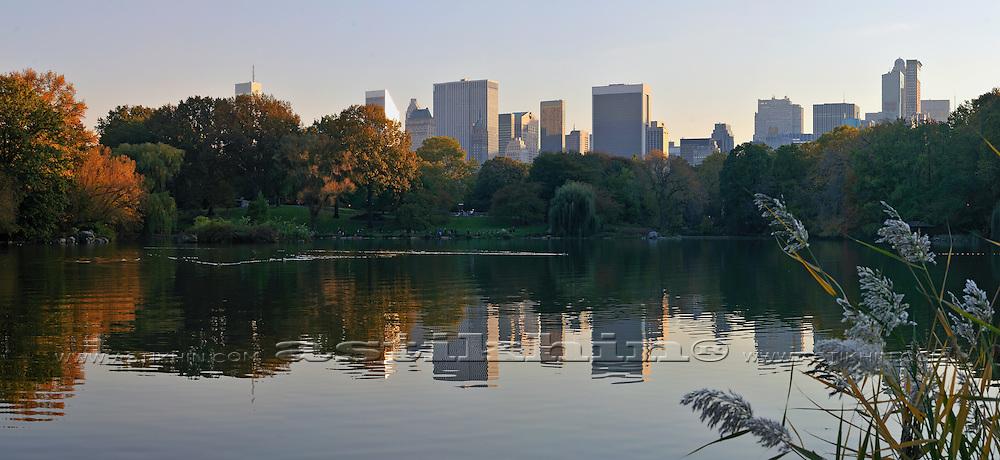 Evening in Central Park, Manhattan,