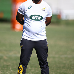 Mzwandile Stick (Backline Coach) of South Africa during the cell c sharks training session at Jonsson Kings Park Stadium,Durban.South Africa. 08,05,2018 Photo by Steve Haag)
