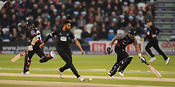 Sussex's Ajmal Shahzad attempts to run out Peter Trego.  - Mandatory by-line: Alex Davidson/JMP - 01/06/2016 - CRICKET - The 1st Central County Ground - Hove, United Kingdom - Sussex v Somerset - NatWest T20 Blast