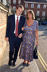 BEN GOLDSMITH and his mother LADY ANNABEL GOLDSMITH at Sir David & Lady Carina Frost's annual summer party held in Carlyle Square, Chelsea, London on 5th July 2006.<br />